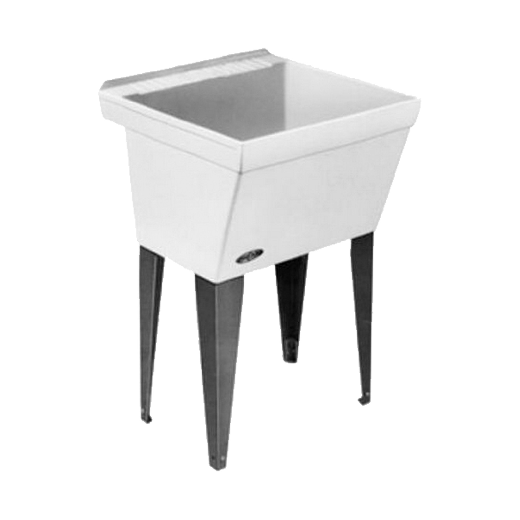 Mustee 17F Utilatub Laundry Tub Floor Mount, 23.5-Inch x 23-Inch, White by Mustee
