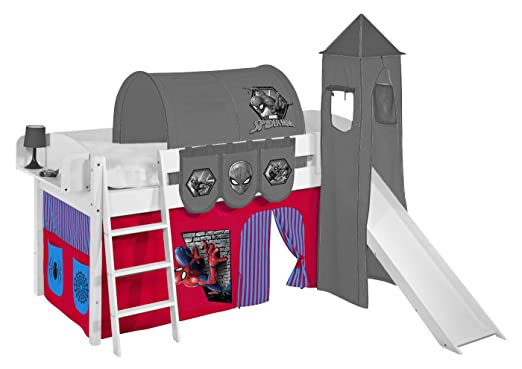 Etagenbett Zubehör Vorhänge : Etagenbett blau rot weiß mit vorhang und lattenroste