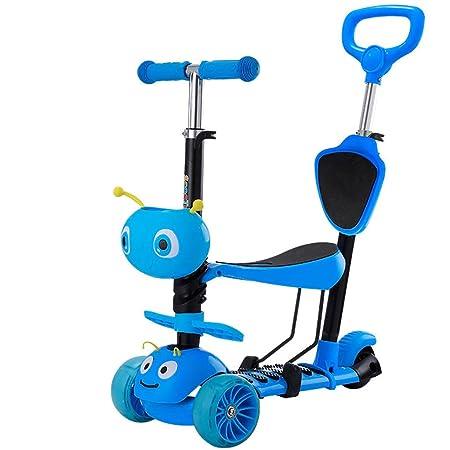WYQ Patinete 3 Ruedas niño Azul Scooter con Rueda ...