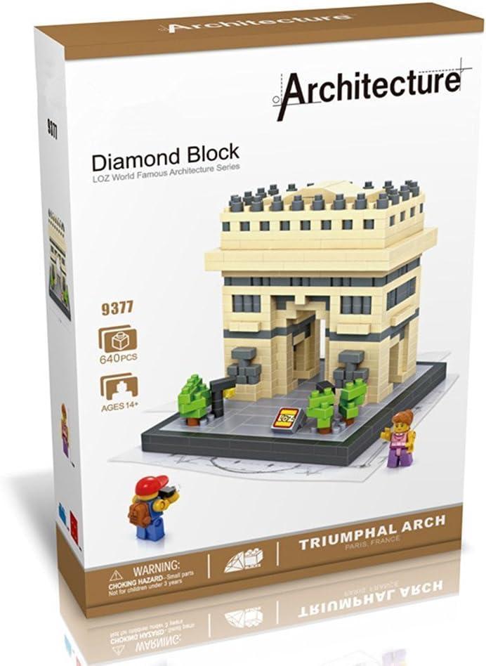 840Piece Loz Building /& Construction 9377 Triumphal Arch Building Blocks ,Brown