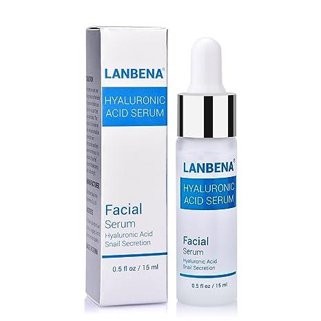 Suero de ácido hialurónico para cara y piel, esencia de secreción de caracol con vitamina