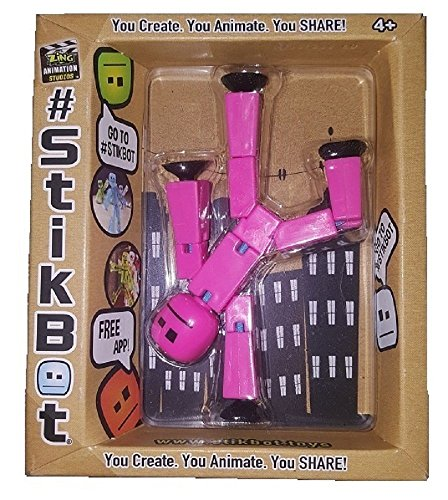 Stikbot, Pink Stikbot Action Figure, 3 Inches