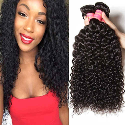 Beauty Forever Hair 22 24 26 inch Brazilian Virgin Hair Curly Weave 3 Bundles 100% Unprocessed Human Hair Extensions Natural Color (100+/-5g)/ Pc