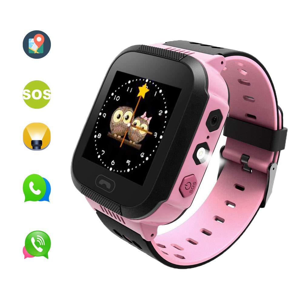 El Reloj Inteligente smartwatch con función de localizador antipérdida, Sistema SOS de Emergencia con Alarma, es el Major Regalo de cumpleaños para niños.