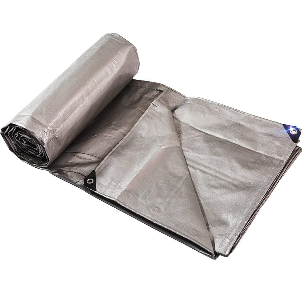 MONFS Home Regenfestes Tuch wasserdicht Plane wasserdicht Poncho Poncho Poncho Isomatte Ladung Sonnencreme Isolierung verschleißfestes Antioxidans (Farbe   grau, Größe   5x10M) B07PLBHZTD Zelte Adoptieren 9a54bc