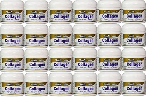 Collagen Beauty Cream Made with 100% Pure Collagen Promotes Tight Skin Enhances Skin Firmness 2 OZ. Jar PACK of 24