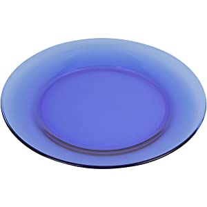 Mainstays 7.5 Round Blue Glass Dinnerware Salad Plate Set, Set of 6