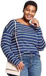 ada3fb519fc Ava   Viv Women s Plus Size Stripped Long Sleeve Shirt