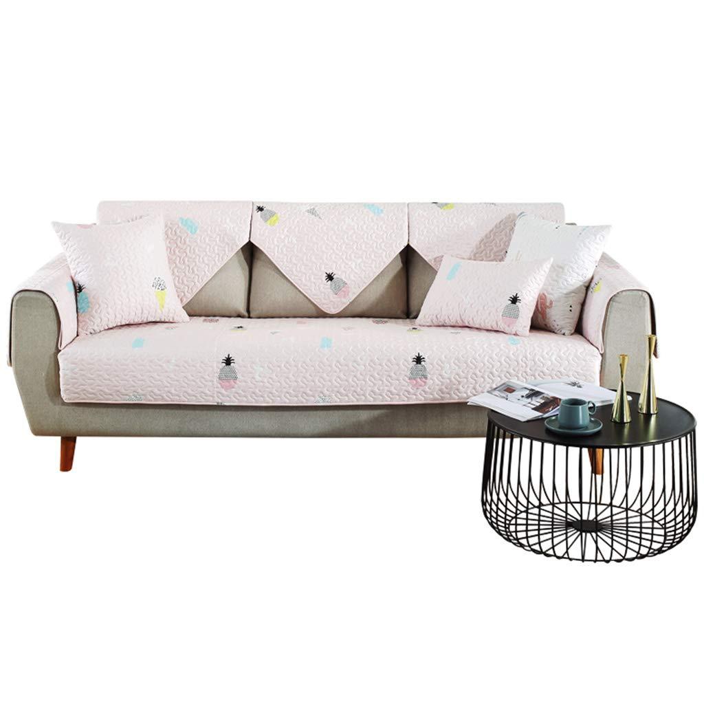 Cojines para espalderas y sillas Sofá Alfombra cojín cojín Alfombra Sofá Cuatro Estaciones Universal sofá cojín Antideslizante salón sofá de Cuero Funda de sofá (Color : Rosa, Size : 110  240cm) 6ce93a
