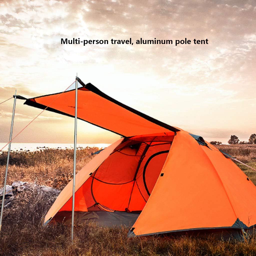 HAOHAOWU Familienzelt, Wanderzelt 3-4 Personen Doppelzelt Doppelzelt Doppelzelt Verdickung atmungsaktiv Zelt wasserfest B07M89LYPK Tunnelzelte Modisch 0fbe6f