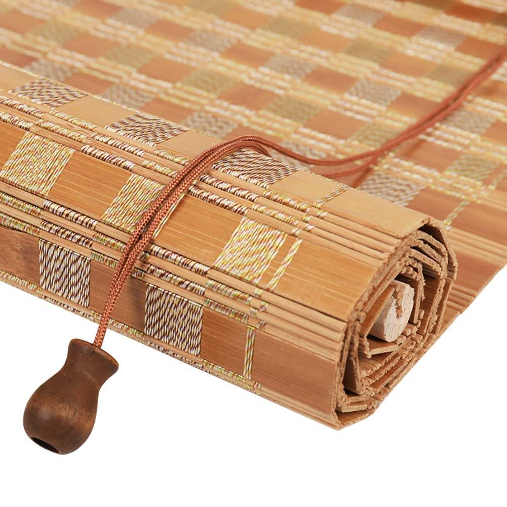 disfruta ahorrando 30-50% de descuento 60×120cm Persianas Cortinas enrollables de bambú Tejidas Naturales para para para Ventanas, Aislamiento de privacidad enrollables con Cenefa y cordón de elevación (Tamaño   60×120cm)  precio mas barato