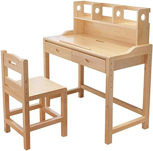 Mesa de escritorio para niños de madera, escritorio para niños ...