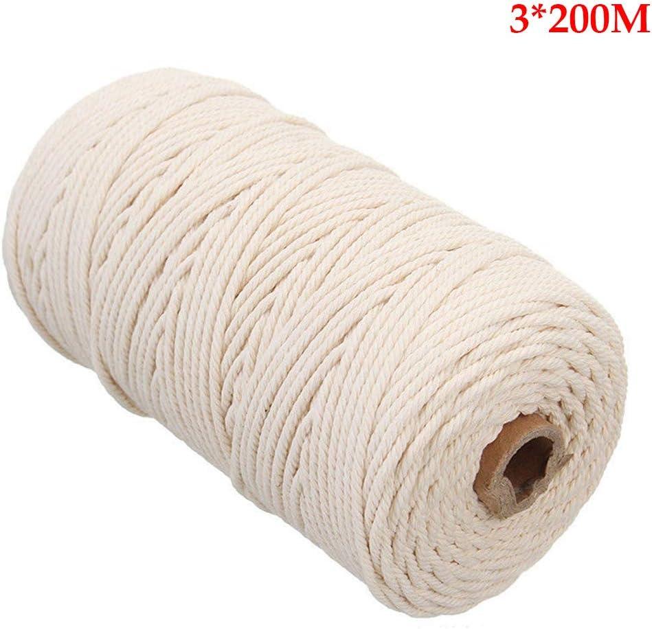Cuerda retorcida Bricolaje Cortina de algodón Artesanal Cadena ...