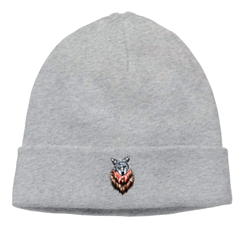 nordic runes Wolf Animal Beanie Hat Winter Warm Knit Skull Cap for Mens//Womens