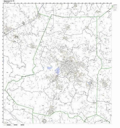 Nc Road County Maps - Wayne County, North Carolina NC ZIP Code Map Not Laminated
