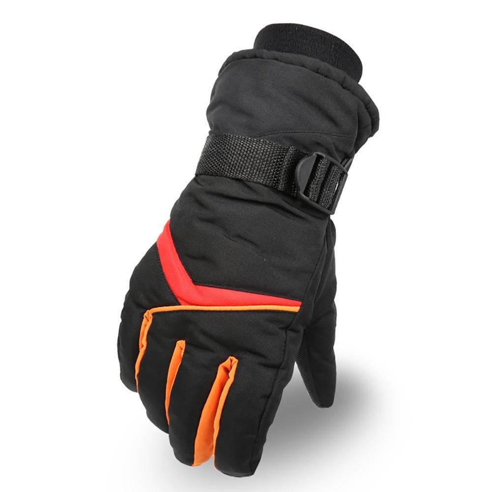 qiulv Skifahren Mann Handschuhe Verdickung Winddicht Wasserdicht ColdProof Thermische Handschuhe Radfahren Jagd Schwarz Vollfinger Multifunktional Warm halten Handschuhe Geeignet für den Winter