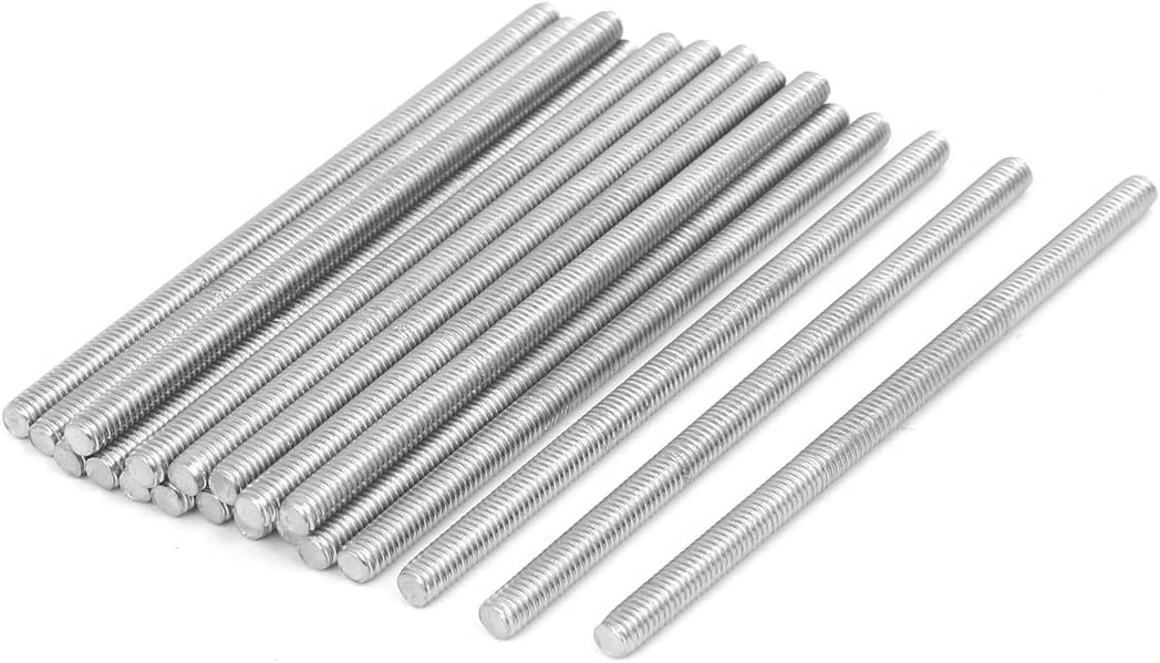 uxcell M4 x 80mm 304 Stainless Steel Fully Threaded Rod Bar Studs Silver Tone 20 Pcs a16071500ux0068