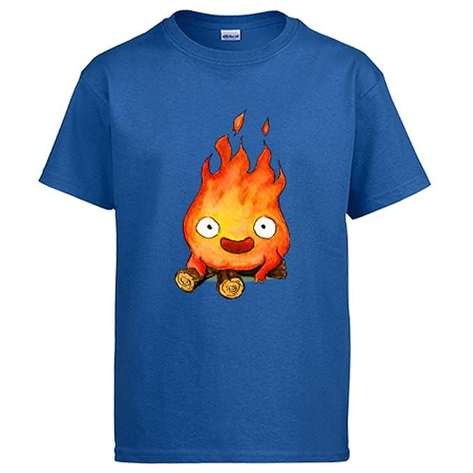 Diver Camisetas Camiseta Chibi Kawaii Calcifer Parodia: Amazon.es: Ropa y accesorios