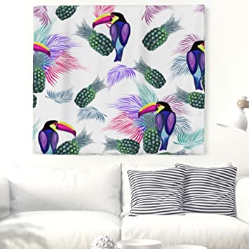 Piña Papagayo pared Alfombra tropisch Planta pared adornos pared toalla pared de tapiz mantel Toalla de playa 150 x 130 cm: Amazon.es: Hogar