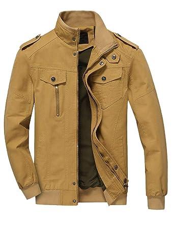 Mallimoda Uomo Giacca Cappotto Zip Classico Retro Vintage Manica Lunga  Casual Giacche  Amazon.it  Abbigliamento 4506395d4c1