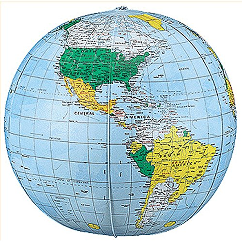 REPLOGLE GLOBES POLITICAL-INFLATE GLOBE 12 ES 12 (Set of