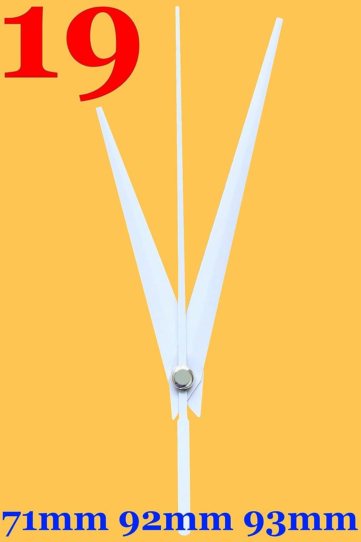 Schwarz, M: Ziffernblattdicke 1-4 mm mit Wandaufh/ängung Funkuhrwerk Funk DCF Radio lautlos ger/äuschlos Quarz-Uhrwerk Uhrzeiger Satz Zeiger Schwarz 35 mm #158