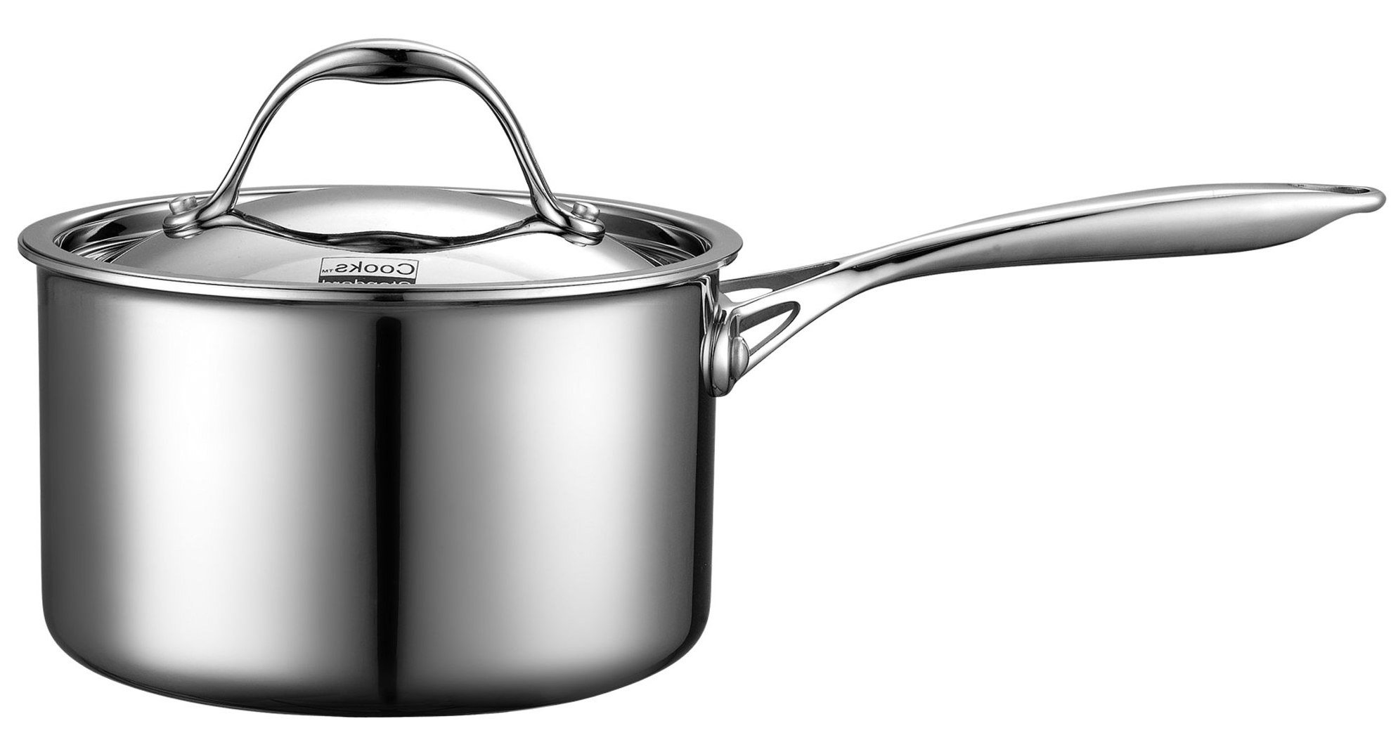 Cooks Standard 3-Quart Multi-Ply Clad Stainless Steel Saucepan with Lid by Cooks Standard