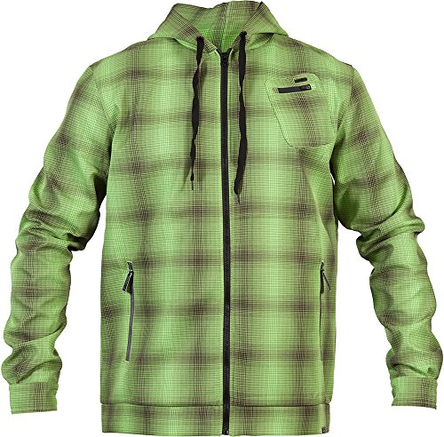 ZOIC Men's Crux Hoodie, Green Square, X-Large
