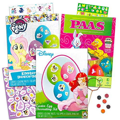 (Easter Egg Decorating Kit Disney Stickers, Coloring Tablets, Dippers and More (Featuring Disney Princess)