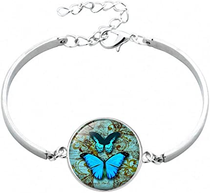 Fashion Fine Jewellery Women/'s Vintage Style Dragonfly Cabochon Silver Necklace