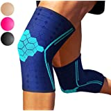 Sparthos Knee Compression Sleeves by (Pair) – Joint Protection and Support for Running, Sports, Knee Pain Relief – Knee Brace