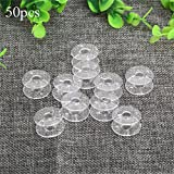 Evertrust (TM) 50pcs 2x1cm Plastic Clear Home Sewing Machine Thread String Empty Bobbin Spools for most Sewing Machine