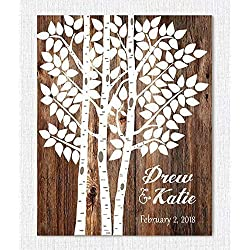 Wedding Sign - Personalized Wedding Gift - Wedding Decor - Wedding Tree Guest Book Alternative