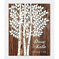 Wedding Sign - Personalized Wedding Gift - Wedding Decor - Wedding Tree Guest Book Alternative
