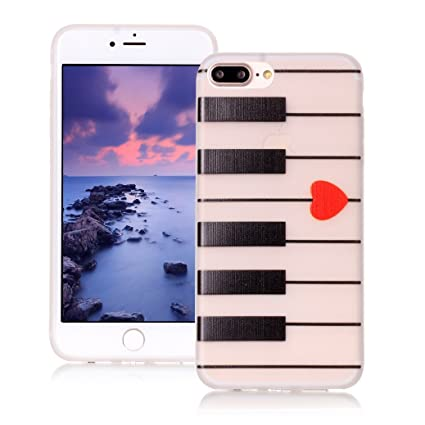 AllDo Funda Silicona para iPhone 7 PLUS Carcasa Protectora Funda Blanda Suave Soft TPU Silicone Case