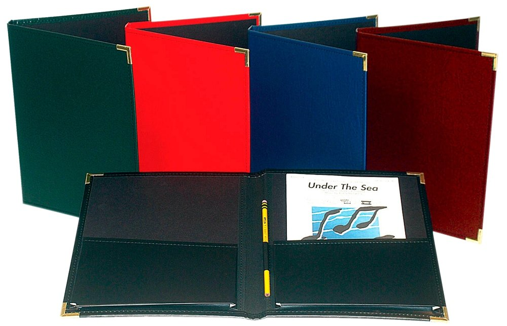 Marlo Plastics Choral Rehearsal Folder 9'' X 12'' with Gusset Pockets Burgundy