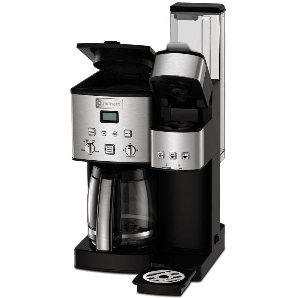 Cuisinart 12-Cup Coffee Maker and Single-Serve Brewer Stainless Steel (SS-15) with Milk Frother - Handheld Electric Foam Maker for Coffee, Latte, Cappuccino & Stainless Steel Milk Frothing Pitcher by Cuisinart (Image #3)