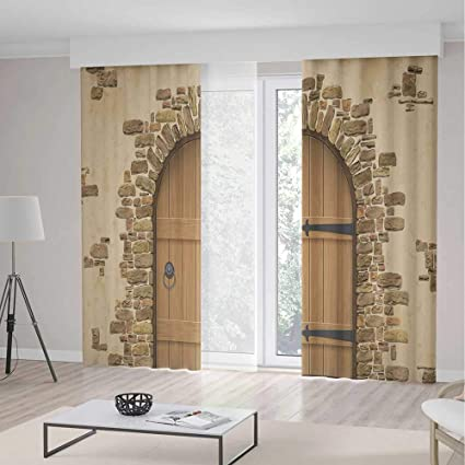 Amazon.com: C COABALLA Window Curtains,Rustic,Living Room ...