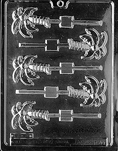 Palm Tree Lollipop Chocolate Mold - F044 - Includes Melting & Chocolate Molding Instructions ()