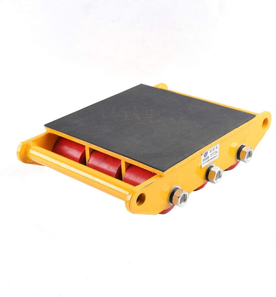 13200LB Capacity Yellow Industrial Machinery Mover 13200lb 6T Machinery Mover Roller Dolly with 360/°Swivel Top Plate