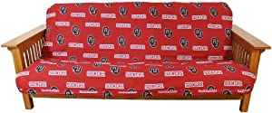 College Covers Oklahoma Sooners Futon Cover - Full Size fits 6 and 8 inch mats