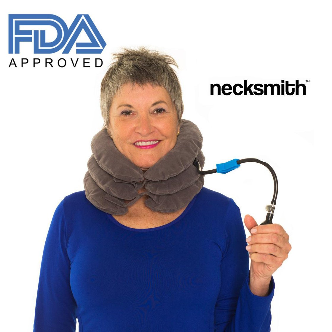 Necksmith™ Cervical Neck Traction Travel Pillow Device & Adjustable Neck Device Collar for Pain Relief and Support with FREE Neck Extensions by Necksmith (Image #3)