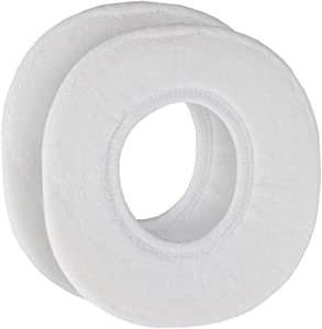 Home-X - Snug and Warm Toilet Seat Cover, Washable and Reusable Cover for Men and Women of All Ages, White (Set of 2)
