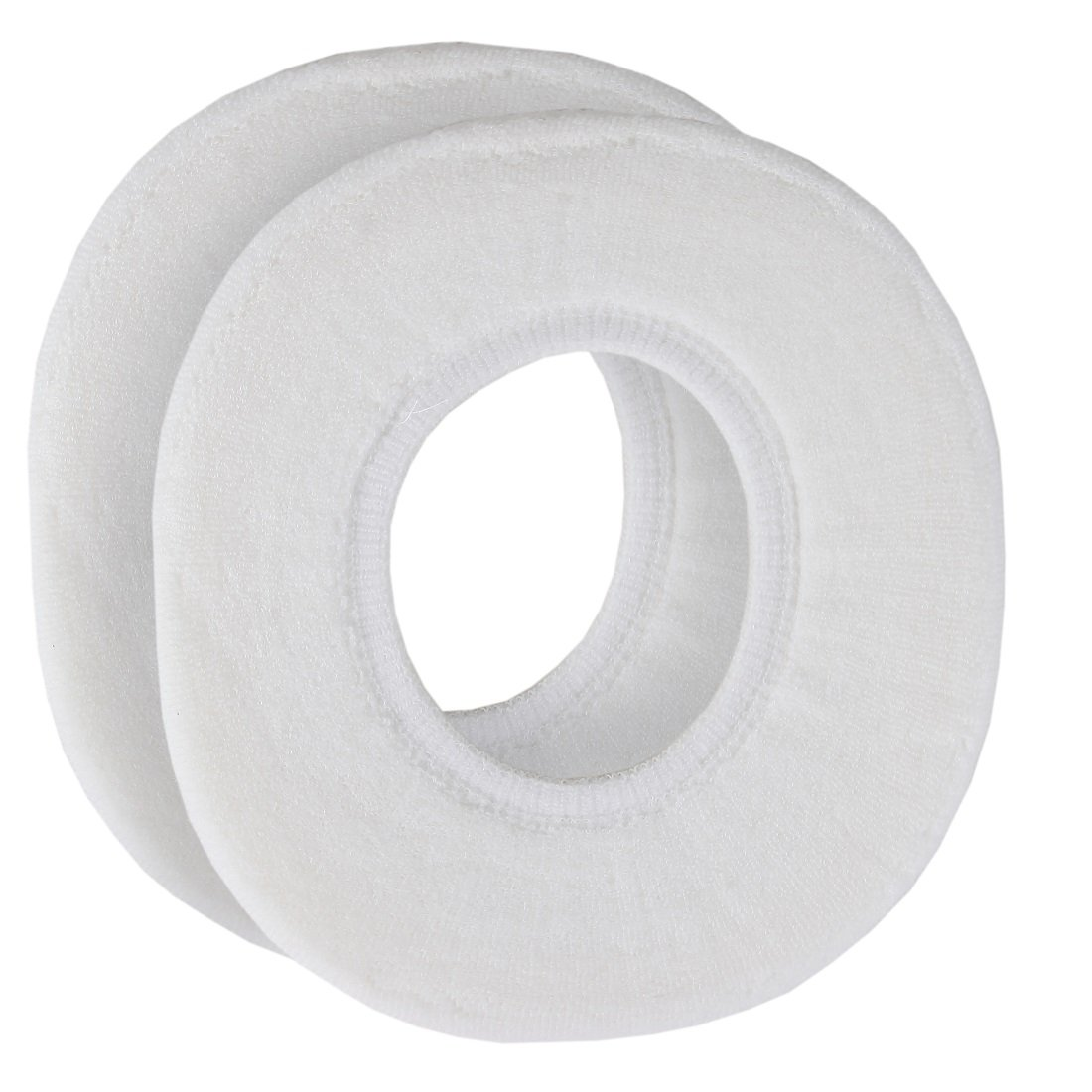 Home-X - Snug and Warm Toilet Seat Cover, Washable and Reusable Cover for Men and Women of All Ages, White (Set of 2) by Home-X