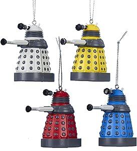 Kurt Adler Doctor Who Dalek Ornament Gift, 2.25-Inch, Set of 4