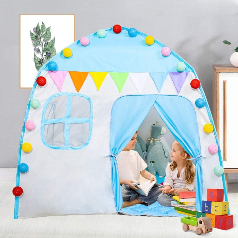 Topashe Tienda de campaña Infantil Portable,Carpa Interior para niños, Baby Play House-Pink,Tienda de campaña Regalo para Niños Blue B