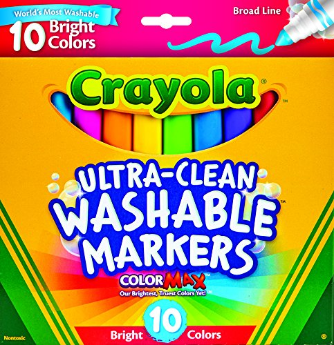 Crayola Ultraclean Broadline Bright Markers