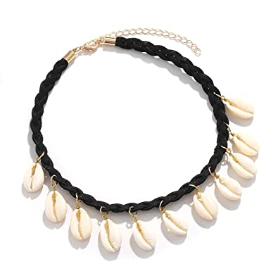 21659777f6590 Amazon.com: Boderier Cowrie Shell Necklace Adjustable Waikiki ...