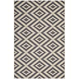 Modway R-1135A-810 Jagged Triangle Mosaic 4x6 Area Rug, 8X10, Gray and Beige