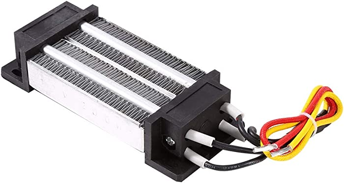Akozon PTC Heating 200W DC 12V Electric Insulated Ceramic Thermostatic High Power Element Heater